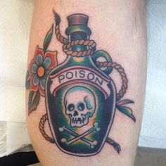 18 Sinister Poison Bottle Tattoos | Tattoodo