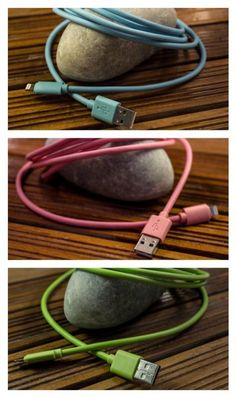 Colorful iPhone cables that are better than Apple's. And will help you keep track of which one is yours.