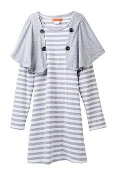 Funkyberry Striped Dress (Toddler, Little Girls, & Big Girls)