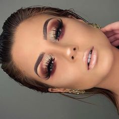 Gorgeous Makeup Ideas That I Want To Try Wunderschöne Make-up-Ideen, die ich Eye Makeup Art, Cute Makeup, Glam Makeup, Gorgeous Makeup, Skin Makeup, Makeup Inspo, Makeup Inspiration, Makeup Ideas, Plum Eye Makeup