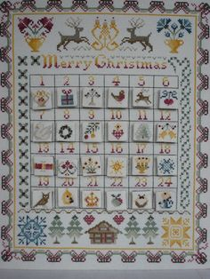 separate squares backed with baize and velcro - 14 Count Christmas Cross Stitch Kit : Cross by MaggieGeeNeedlework