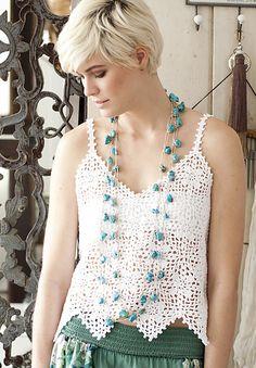 Ravelry: #10 Beaded Necklace pattern by Melissa Horozewski