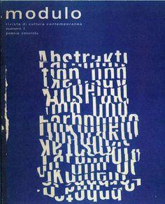 MODULO rivista di cultura contemporanea n. 1 poesia concreta a cura di Arrigo Lora Totino Masnata / Trentalance ed. Genova 1966