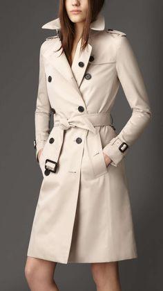 Burberry Long Cotton Gabardine Trench Coat | $1595 | gifts for her | womens trench coat | womens style | womens fashion | womenswear | love | wantering http://www.wantering.com/womens-clothing-item/long-cotton-gabardine-trench-coat/aeyIM/