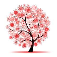 floral árvore linda — Ilustração de Stock #2659875