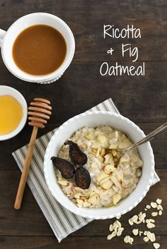 Ricotta & Fig Oatmeal - A unique 5 minute breakfast that is the perfect way to use up leftover ricotta cheese! | foxeslovelemons.com