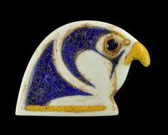 Egyptian Glass Horus Head Plaque, New Kingdom, 18th Dynasty, C. 1550-1295 BC