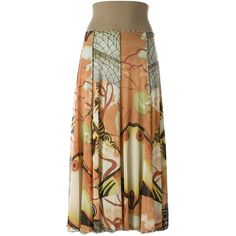 Jean Paul Gaultier Vintage double layer long skirt ($470) ❤ liked on Polyvore featuring skirts, elastic waist skirt, floor length skirts, long maxi skirts, straight skirts and long straight skirts