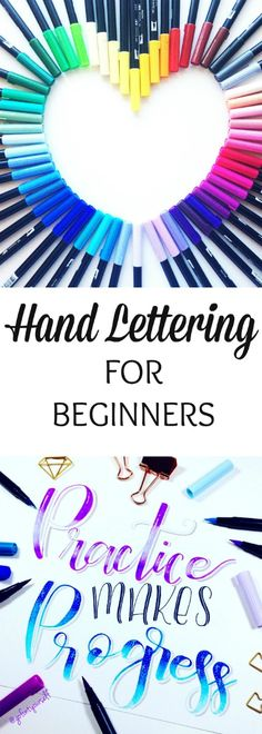 I've always wanted to learn how to hand letter and I actually follow quite a few hand lettering artists on Instagram. One of my favorite hand lettering artists I follow is Erin from @GoFontYourself and I'm excited to have her as a guest poster to tell you all about how to get started with hand lettering and the best hand lettering supplies for beginners. After reading Erin's post, I'm definitely ready to start hand lettering myself.