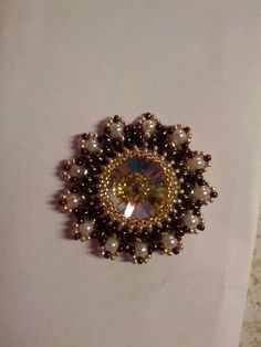 Beaded rivoli pendant