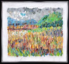 abstract landscape Ireland tapestry