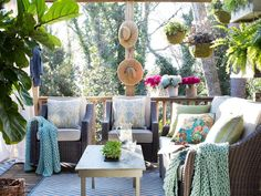 Outdoor Living Room Makeover: After - Sprucing Up an Outdoor Living Space for Spring on HGTV