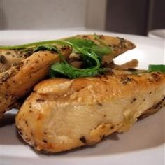 """Slow Cooker Lemon Garlic Chicken    Prep: 15 min Cook: 3 hr 15 min Ready In: 3 hr 30 min  Recipe by Carla Joy """"Seasoned, browned chicken breasts slow cooked with lemon juice, garlic, and chicken bouillon. A wonderful 'fix and forget' recipe !!"""