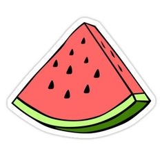 """""""Watermelon Sticker"""" Stickers by Homemade Stickers, Food Stickers, Phone Stickers, Diy Stickers, Printable Stickers, Red Bubble Stickers, Tumblr Sticker, Aesthetic Stickers, Transparent Stickers"""