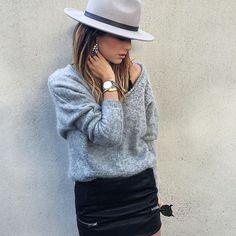 Outfit •Chapeau et boucles @mango •Pull @belairparis