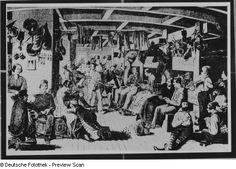 In between decks or steerage on an emigrant ship 1860