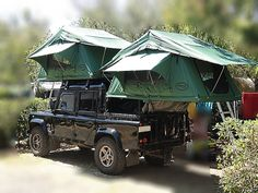 Land Rover Defender 130 Double Cab Pick canvas. Double roof tent camping adventure. One of the best complement to Defender. Lobezno.