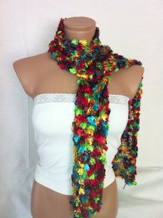 Hand knitted colorful elegant scarf $13.90