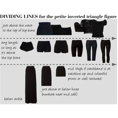 """""""DIVIDING LINES for the petite inverted triangle figure"""" by soliferi-1 on Polyvore"""