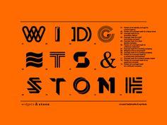 Widgets & Stone T-shirt Design