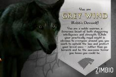 Game Of Thrones Grey Wind