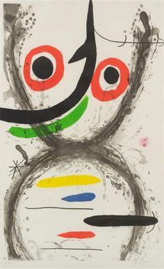 Joan Miro, (Spanish, 1893-1983), Prise a l'hamecon, 1969