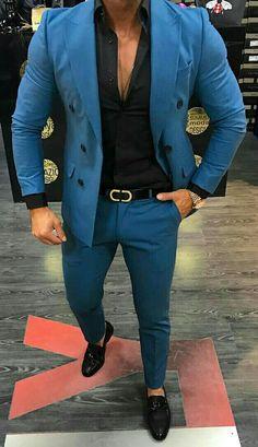 More Blue Favorites Formal Shoes For Men, Men Formal, Suit Fashion, Mens Fashion, British Style, Man, Suit Jacket, Blazer, Jackets