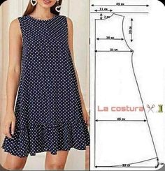 Girls Fashion Clothes, Fashion Dresses, Clothes For Women, Dress Sewing Patterns, Clothing Patterns, Sewing Clothes, Diy Clothes, Costura Fashion, Fashion Sewing