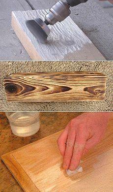 Браширование древесины своими руками: видео мастер-класс на примере доски и мебели  #WoodworkIdeas
