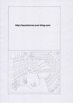 Kirigami Pharaon - patron gratuit