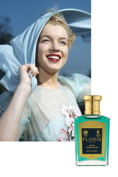 Like millions of other women, Monroe was a fan of Chanel No 5. However, in 2002, it was revealed that she also had a secret penchant for Floris Rose Geranium. The eau de toilette was delivered in bulk to her at the Beverly Hills Hotel under a cloak and dagger alias while she filmed Some Like It Hot. Featuring notes of rose, geranium, citronella and sandalwood, the British eau de toilette has been discontinued and its scent is now only available as a bath essence.