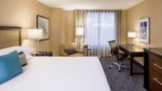 Hyatt Regency hotel recently opened in Washington DC, close to Capitol Hill Capitol Hill Washington Dc, Hotel Bedroom Design, Regency Hotel, High Rise Building, Table, Restaurants, Hotels, Furniture