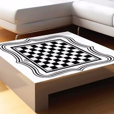 """24"""" #chess board tea table #glass #desktop sticker home decoration vinyl art deca,  View more on the LINK: http://www.zeppy.io/product/gb/2/381463246138/"""