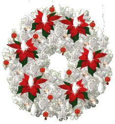 White Animated Wreath