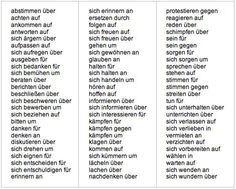Verbs with prepositions - Learn German Smarter Study German, German English, Learn German, Verben Mit Akkusativ, German Resources, German Grammar, German Language Learning, Prefixes, Prepositions