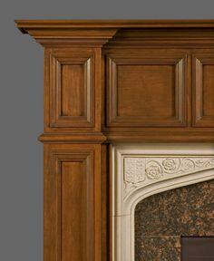 oxford wood fireplace mantel custom