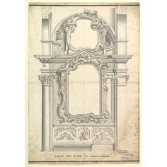 Two Alternate Designs for a Wall with a Frame for a Painting Poster Print by Anonymous, Italian, Piedmontese, century x Italian Interior Design, 18th Century, Vivid Colors, Poster Prints, Mirror, Metropolitan Museum, Architecture, Anonymous, Frame
