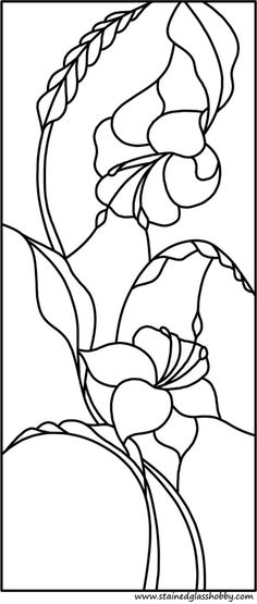 Flower stained glass pattern- Would be pretty on glass or window. Etched on a vase Stained Glass Quilt, Stained Glass Flowers, Stained Glass Crafts, Faux Stained Glass, Stained Glass Designs, Stained Glass Panels, Stained Glass Patterns Free, Mosaic Patterns, Flower Patterns