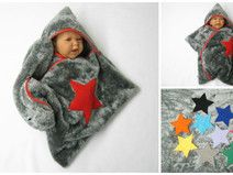 star soft fleece baby wrap stern schlafsack