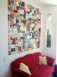I think I want this for my craft nook! Quote wall