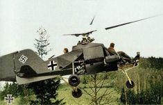 """Flettner Fl 282 Kolibri (""""Hummingbird"""") artillery spotting aircraft 1945"""