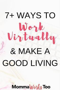 Ever wondered how you could work from home online? Check out my post on 7+ ways to work virtually & make a good living from home. In this you'll learn about ways to make money that can be done by anyone and anywhere. No more taking your kids to daycare if