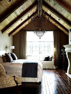 master bedroom with wood vaulted - Google Search