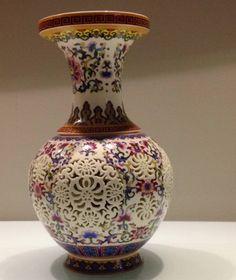 vaso em porcelana chinesa - decoração vaso chinês