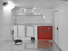 Kitchen Flooring, Kitchen Backsplash, Kitchen Cabinets, Kitchen Appliances, Backsplash Ideas, Kitchen Nook, Apartment Kitchen, Enclosed Car Trailer, Camping Toys