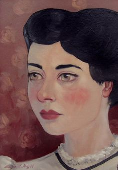 Oil Painting Portrait Original Maybe Someday by TheBrilliantMagpie