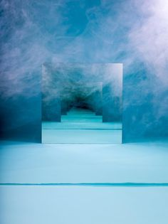 Blue Smoke - Tumble into the abyss with artist Sarah Meyohas' endlessly reflexive mirror sculptures