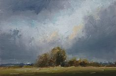 Morning Sky by Neil Carroll Oil ~ 7.75 x 12
