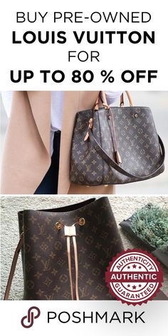 Buy pre-owned Louis Vuitton handbags and other designer luxury brands for  up to off on Poshmark. I Love Purses! 4c922a29e0099