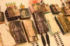 Wooden block art dolls.